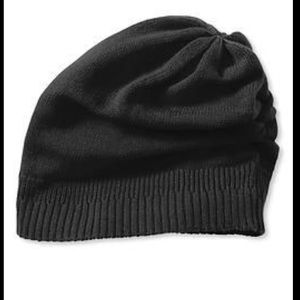 Banana Republic Black Slouchy Beanie